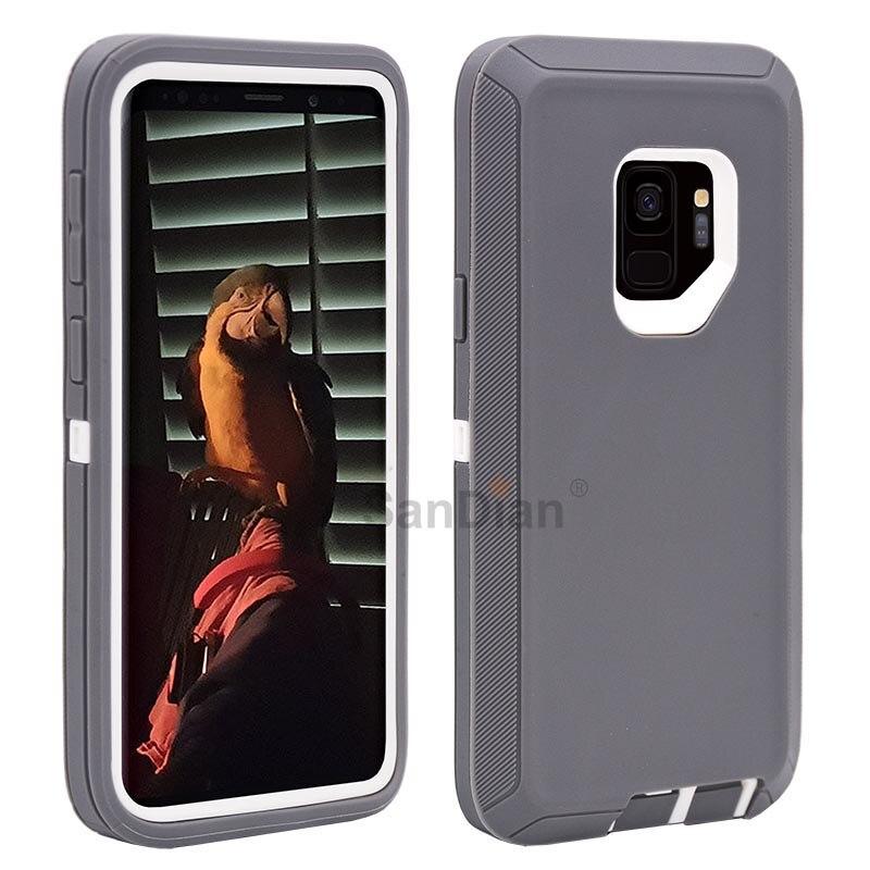 Hybrid Rüstung Stoßfest Robuste PC und TPU Combo Schutzhülle Fall Für Samsung S10 Note8 Galaxy S9/S9 Plus s7 Rand S7