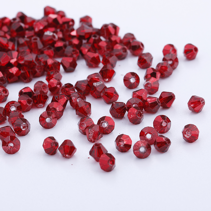 Wholesale 1000pcs 3mm Small Bicone Faceted Crystal Glass Loose Spacer Beads lot