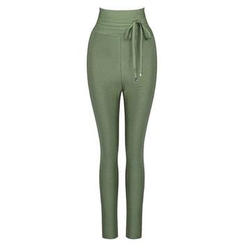 Women's High Waist Bandage Pants Leggings Casual