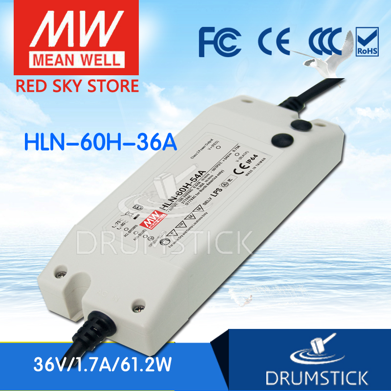 цена на Selling Hot MEAN WELL HLN-60H-36A 36V 1.7A meanwell HLN-60H 36V 61.2W Single Output LED Driver Power Supply A type