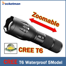 2017 CREE T6 flashlight Lanterna de led High Power Torch 2000 lumen Zoomable XM-L LED Flashlight tatica light lantern bike light