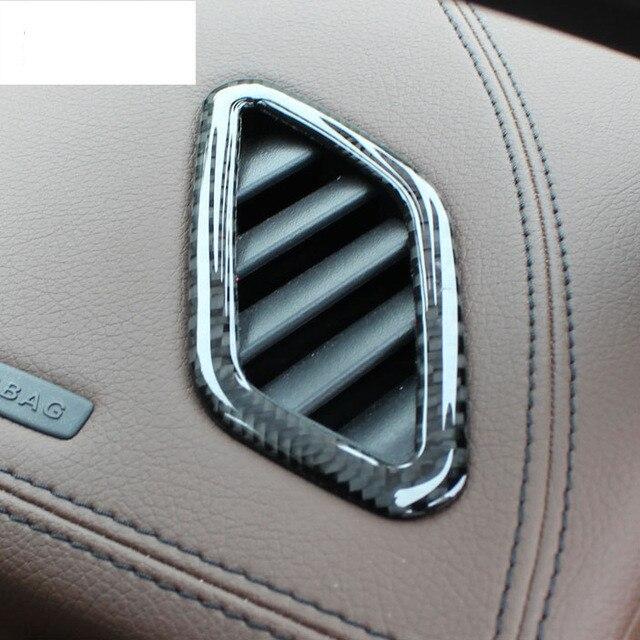Alta qualidade De fibra de Carbono Para Mercedes Benz ABL/CIA/uma Classe frente da saída de ar do ar condicionado acessórios lantejoulas Dashboard