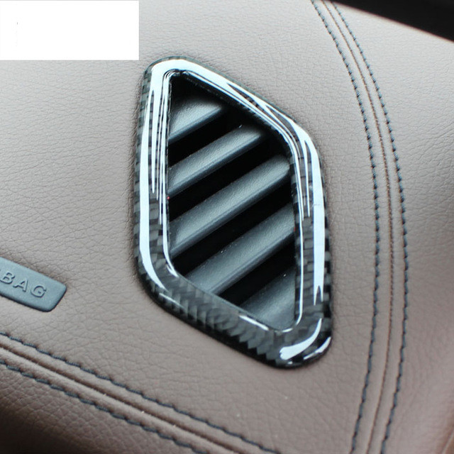 High quality Carbon fibre For Mercedes Benz GLA /CLA / A Class front air outlet the air conditioner sequin accessories Dashboard for mercedes benz ml gl class w164 05 11 front air suspension air spring bag 1643204513 for ml320 ml350 gl450 gl500 front 06 08