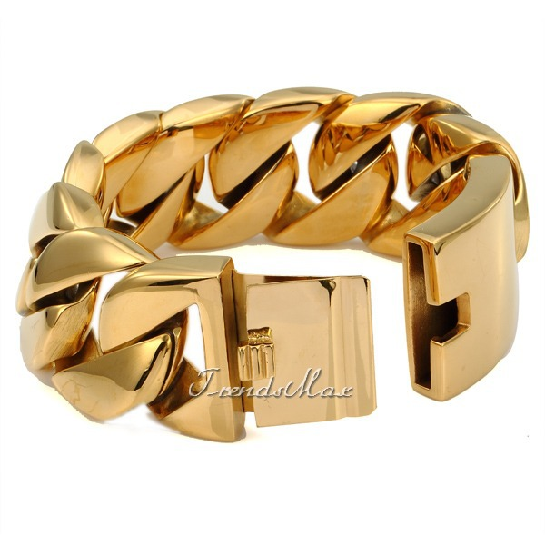 hiphopbling polished bangles thick products clasp bangle cuban bracelet gold cz