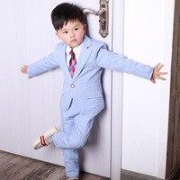 Boy Suits Flower Girl Slim Fit Tuxedo Wedding Suit Party Baptism Christmas Dres Jacket +Shirt + Tie +Pants 4Pcs Set Blazers H191