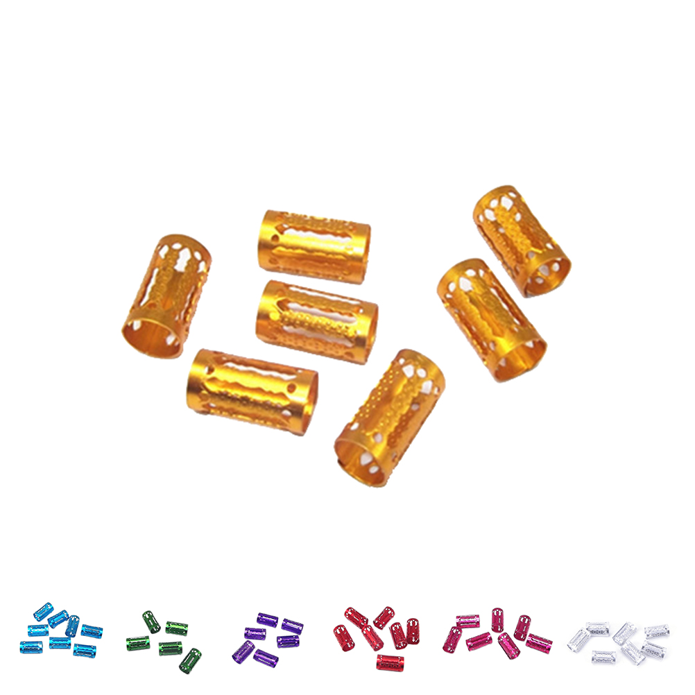 100Pcs hair dread Braids dreadlock Beads adjustable cuff clip Micro Ring Beads