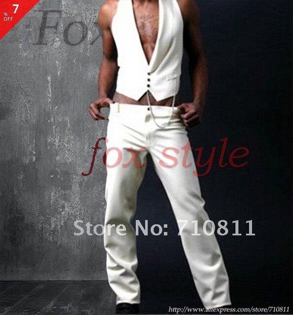 Латекс брюки мужские джинсы в белый цвет резины
