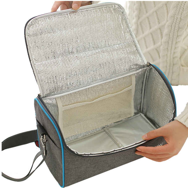 Grande Ombro Bolsa Térmica Duplas Lunch Bag