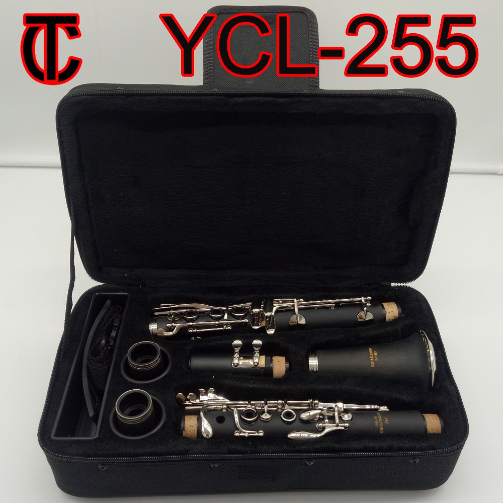 Brand New Japan Matte ABS Resin Bb Clarinet Bakelite Student Clarinets YCL-255 Mouthpiece Musical Instrument Clarinet Case
