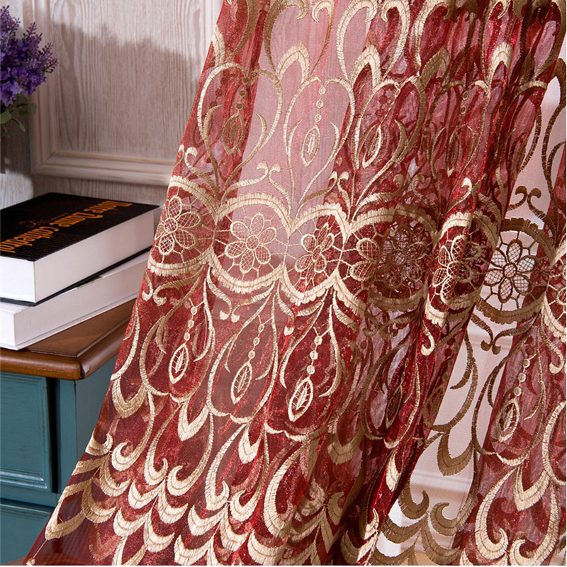 Popular Red And Gold Curtains Buy Cheap Red And Gold Curtains Lots
