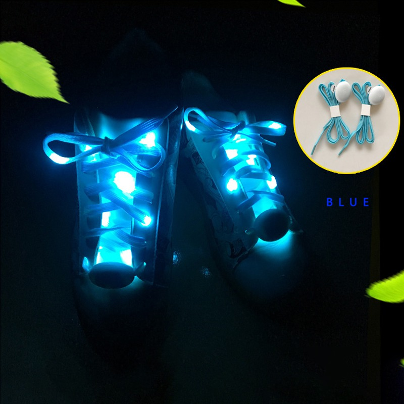 2019 Party Skating Charming LED Flash Light Up Glow Shoelaces Shoestrings Luminous In The Dark Athletic Sport Boots Shoes Laces