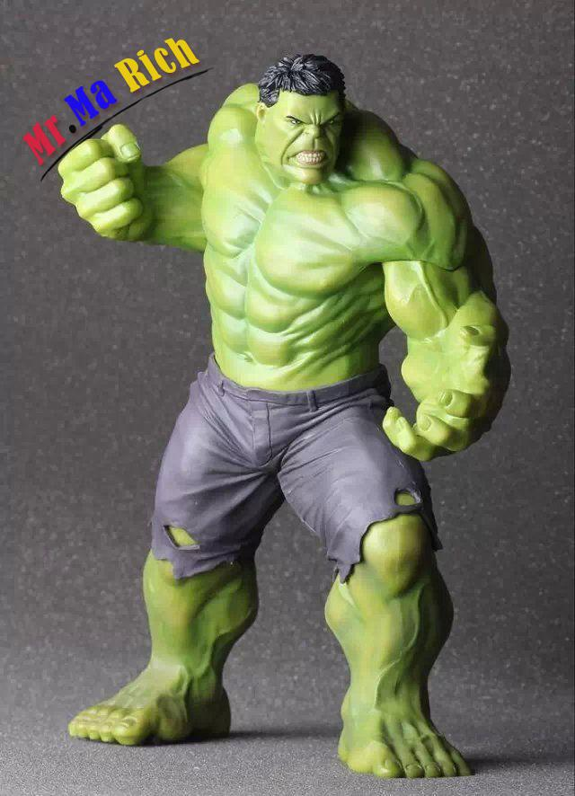 Avenger 2 Age Of Ultron Hulk Action Figure Crazy Toy 3d Model Doll Display 25cm avengers age of ultron hawkeye 1 0 1 6 mms172 action figure collectible model toy retail box wu819