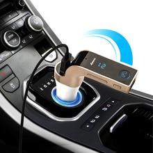 4 en 1 Inalámbrico Bluetooth G7 Multifunción Cargador de Coche Manos Libres Transmisor FM Kit de Coche Reproductor de MP3 USB SD LCD Coche de la Música jugador