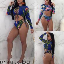 Top De Compra Larga Mujeres Lotes Traje Baño Manga Las 8X0kZNwOnP
