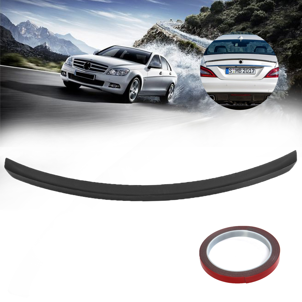 цена на Rear Trunk Boot Spoiler For Mercedes CLS CLASS W218 C218 For AMG 2011- ABS Plastic Black Rear Wing Spoiler Rear Trunk Roof Wing