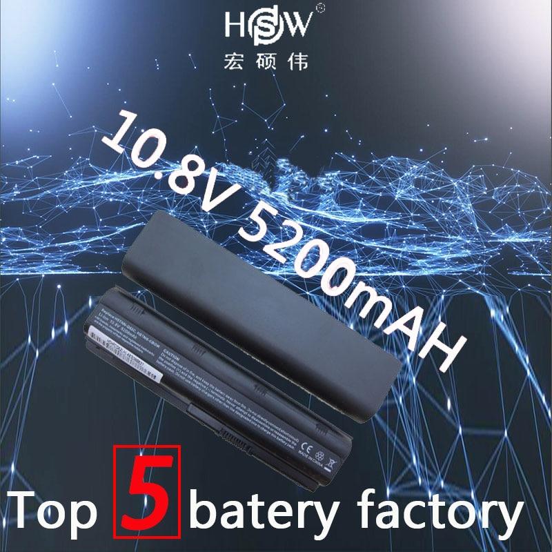 باتری لپ تاپ باتری نوت بوک HSW 5200MAH 6cell برای HP Compaq MU06 MU09 CQ42 CQ32 G62 G72 G42 593553-001 DM4 batteria akku