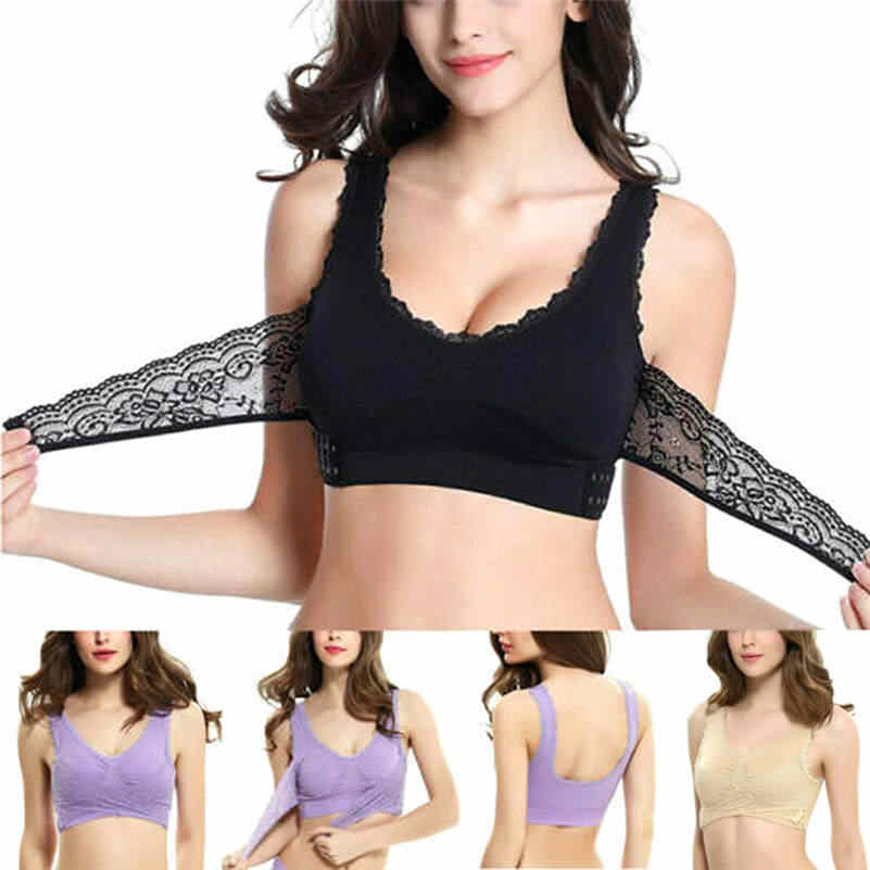 Front Cross Side Buckle Wireless Lace Bra Breathable Sport for Wome DROP SHIPPING