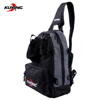 KUYING Fishing Lure Fish Nylon Oxford Backpack Shoulder Bag For Travel Tackle Grip Glass Box Outdoor Sport Hiking Riding