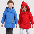 2016 Hot Sale New Winter Boys Girl Down Duck Jacket Coat  Hooded  Long Sleeve winter Children's Clothing Outerwear For 2-5 Y