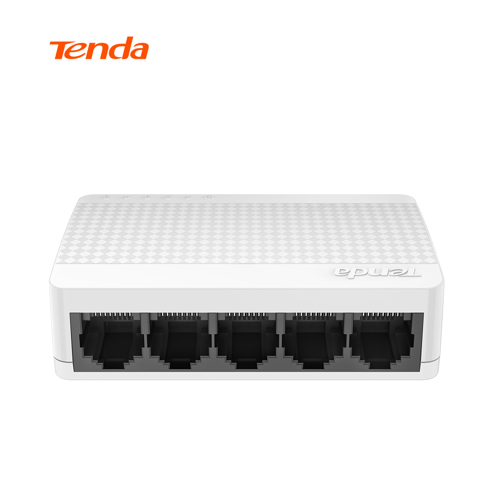 Tenda S105 Ethernet Switch,Mini 5 Port Desktop Ethernet Network Switch,100Mbps LAN Hub,Small and Smart,English/European Firmware ...