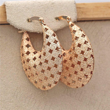 Bohemian Earrings for Women Gold Plating Hollow Out Waterdrop Earring Circle  Hoop Earrings Trendy Wedding Jewelry цена 2017