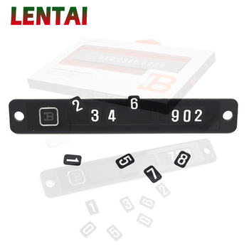 LENTAI For BMW e46 e39 e90 e60 e36 f30 f10 e30 x5 e53 f20 Ssangyong Lifan 1Set Black Car parking card with phone number Stickers image
