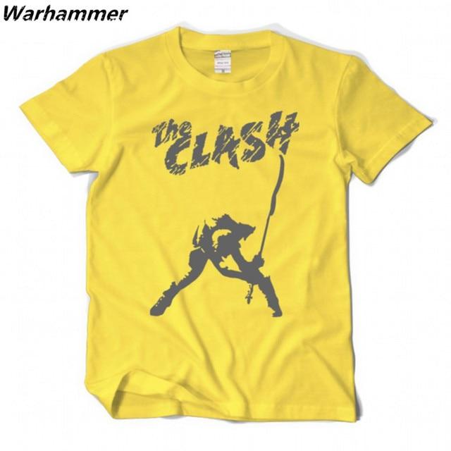 7e184a3c5d29e The Clash Band T-shirt londres appelant la musique t-shirts classique hip  hop