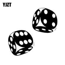 YJZT 13.4*13CM Interesting Car Sticker Casino Poker Dice High Quality Decoration Vinyl Graphic C12 0060
