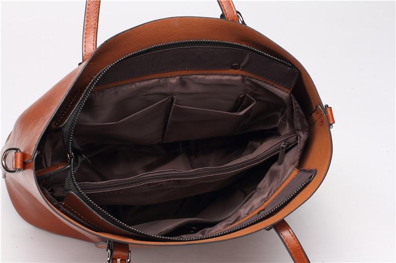 Women Tuff Leather Tote Handbag 12