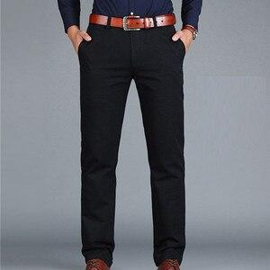 Image 3 - ICPANS Pants Loose Cotton Full Length Men Pants Casual Pockets Army Khaki Black Male Trousers Pants Men social Big Size Summer