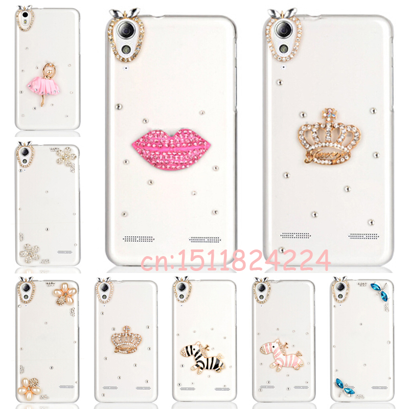 Luxury rhinestone Phone Case for Lenovo A6010 Plus & for lenovo A6000 & for Lenovo Lemon K3 K30-T Cover Skin 5