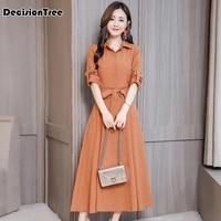 2019 summer cotton linen dress women loose plus casual dress ol work wear vintage print sundress dresses vestidos