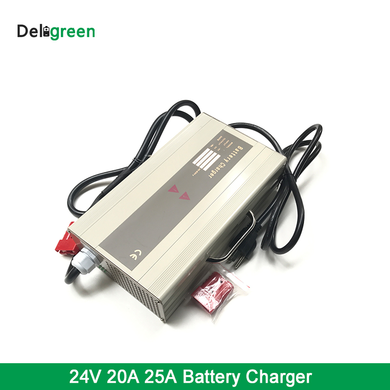 24V LifePO4 Battery Charger Reverse polarity Functional Safety Lion Battery charger 25A 30A 35A lcd screen high frequency intelligent caricabatteria 24v 35a battery charger