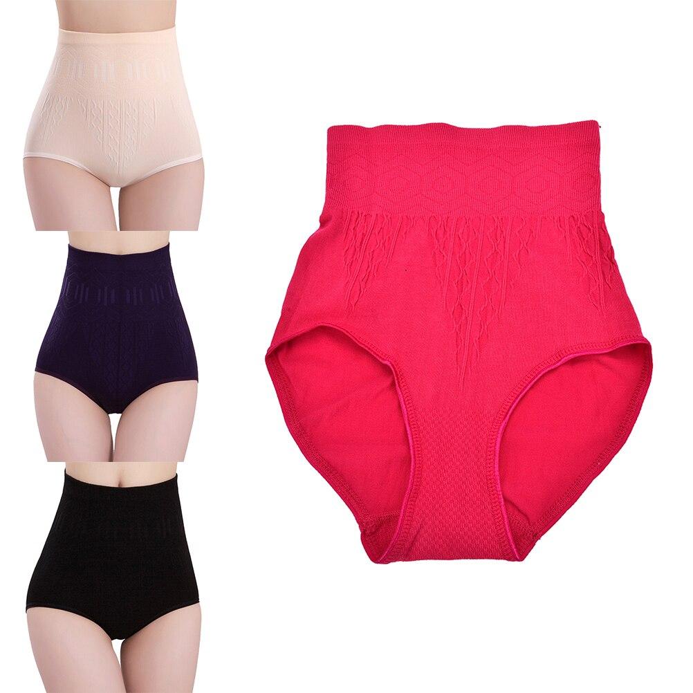 Sıcak kadınlar katı yüksek bel kısa kuşak vücut şekillendirici yeni iç çamaşırı moda bayanlar saf pamuk Slim karın Knickers pantolon iç çamaşırı