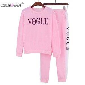 Image 5 - Xuancool Nieuwe 2020 Vrouwen 2 Stuk Kleding Set Casual Mode Vogue Sweater + Lange Broek Trainingspak Voor Vrouwen Hoodie Pak
