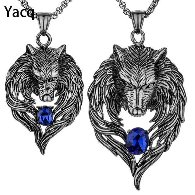 Yacq couple necklace stainless steel wolf pendants chain valentine yacq couple necklace stainless steel wolf pendants chain valentine day romatic jewelry gifts for hime and mozeypictures Choice Image