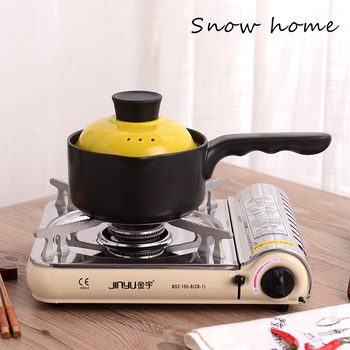 Japanese ceramic small casserole baby milk boiled noodles porridge pot soup stew pot Korean high temperature stewpan saucepan