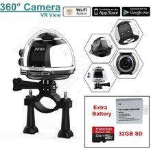 จัดส่งฟรี! 4พัน360 Wifiกล้องพาโนรามาอัลตร้าHDกีฬาVRกล้องw/E Xtra + 32กิกะไบต์SD