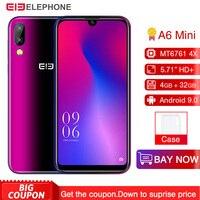 Elephone A6 Mini Android 9.0 MT6761 Quad Core Smartphone 5.71 Inch waterdrop Screen HD+ 4GB 32GB/64GB 16MP 3180mah Mobile Phone
