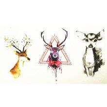 10x6cm Temporary Small Cute Fashion Tattoo Three Small Deer