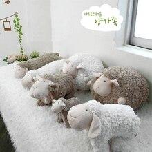 יפה רך בפלאש שומן כבשים כדור צעצוע שינה כבשים בובת כרית כרית חבר ילדה יום הולדת מתנת קריקטורה כבשים כבש בובה קטיפה