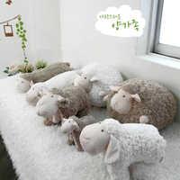 Schönen Weichen Plüsch Fett Schafe Ball Spielzeug Schlafen Schafe Puppe Kissen Kissen Freund Mädchen Geburtstag Geschenk Cartoon Schafe Lamm Puppe plüsch