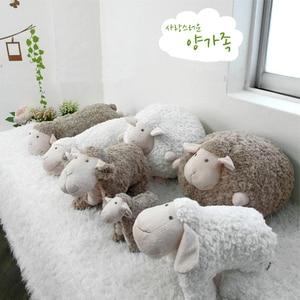 Image 1 - Schönen Weichen Plüsch Fett Schafe Ball Spielzeug Schlafen Schafe Puppe Kissen Kissen Freund Mädchen Geburtstag Geschenk Cartoon Schafe Lamm Puppe plüsch