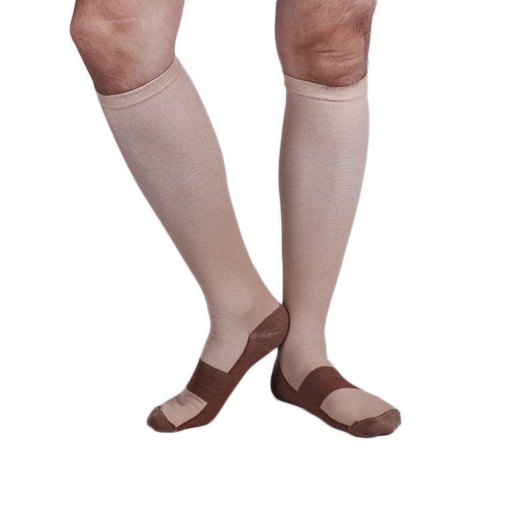 Men's Socks 3 Colors Mens Socks Compression Socks Knee Anti-fatigue Male Leg Slimming Stockings