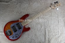 China guitar factory custom New 2015 music MAN StingRay 5 Strings sunburst Electric Bass guitar with active pickups 1221