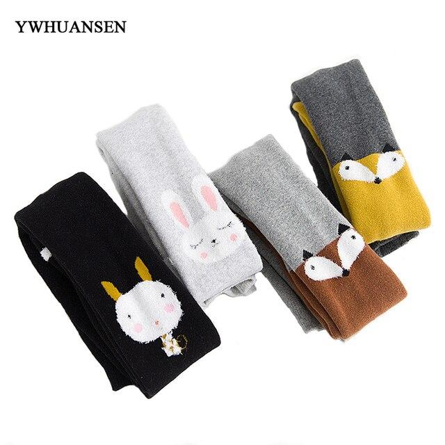 Ywhuansen осень-зима Колготки для новорождённых для Обувь для девочек милый мультфильм унисекс Обувь для мальчиков и Колготы для девочек толстый хлопок Детские колготки Чулки для женщин