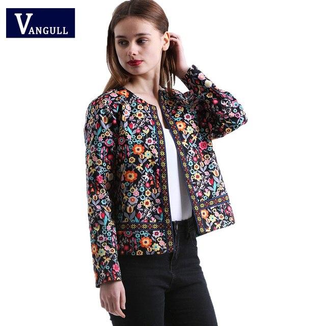 2018 г. Новые женские весна и Autumnr женщина Англия Стиль Пальто с цветочным принтом цвет свободная повседневная мода Высокая талия верхняя одежда куртки