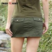 Nowy Sexy Mini Spódnica Dla Kobiet Lato Wojskowy Moda Mid talii Kieszenie Camo Armia Zielony Krótkie Spódnice Kobiet Zamek Spódnicy na co dzień