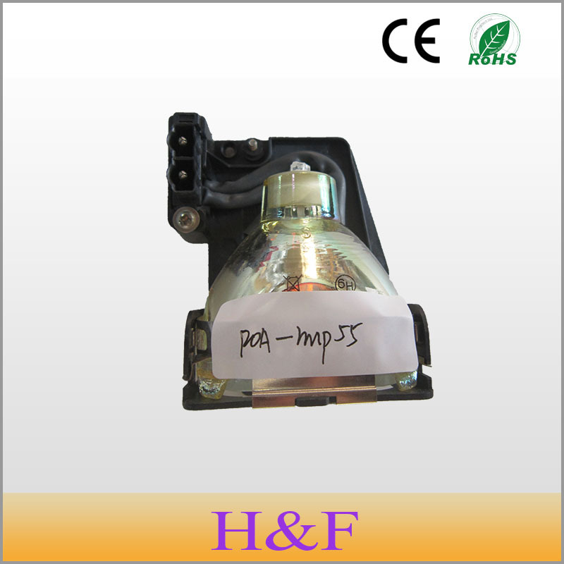 ФОТО Free Shipping POA-LMP55 Compatible Replacement Projector Lamp Projector Light With Housing For Sanyo Proyector Projetor Lambasi
