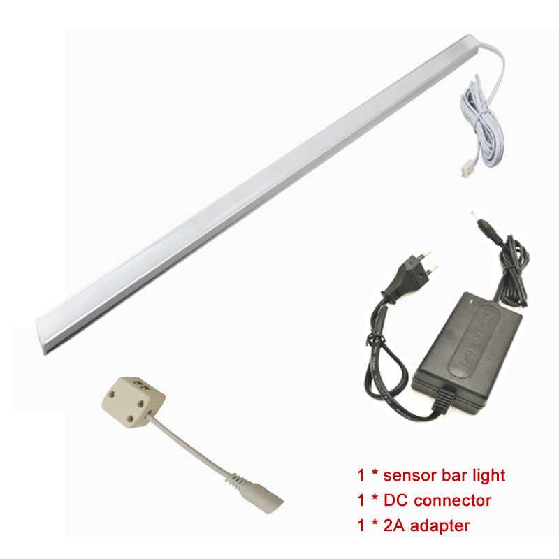 50 см 33 светодио дный Touch Сенсор бар свет ночные огни затемнения 33 светодио дный DC12V Ящика Шкафа Пробка для кухни/спальня
